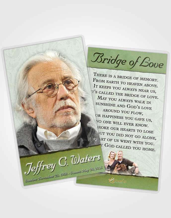 Obituary template trifold brochure emerald destiny for Obituary pamphlet template