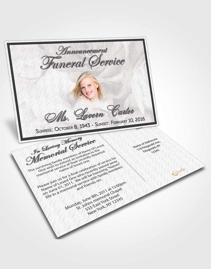 Obituary Template Trifold Brochure Free Petals in the Wind ...