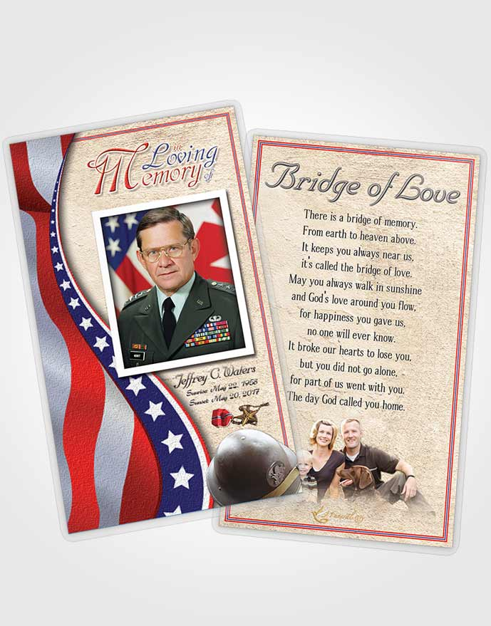 prayer card template cheerful military honors. Black Bedroom Furniture Sets. Home Design Ideas